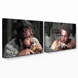 Bud Spencer - Halleluja Dinner / Vier Fäuste für ein Halleluja - Leinwand