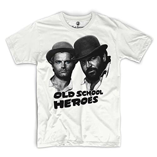 Bud Spencer - Old School Heroes - T-Shirt weiss