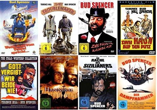 Bud Spencer & Terence Hill Fan Box Collection Inhalt: [8DVDs] mit Hannibal - Gott vergibt-Wir beide nie - Zwei hau'n auf den Putz - Zwei Fäuste räumen ... - Die Rache des Sizilianers - Der Dampfhammer