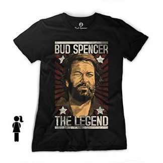 Bud Spencer - Girls - THE LEGEND - T-Shirt (schwarz)