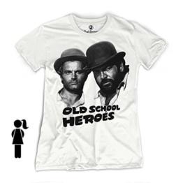 Bud Spencer - Girls - Old School Heroes - T-Shirt (Damen)