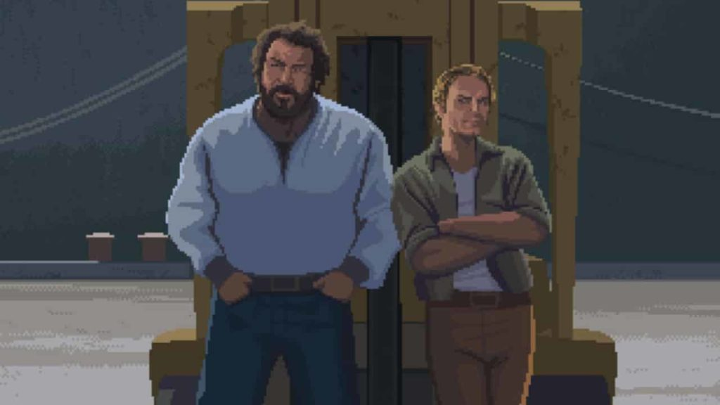 bud spencer & Terence Hill im Slaps and Beans Game