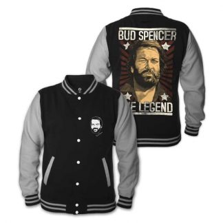 Bud Spencer - THE LEGEND - College Jacke (schwarz)