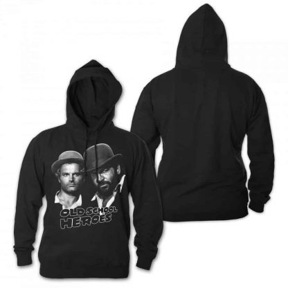 Bud Spencer & Terence Hill - Old School Heroes - Hoodie (schwarz)