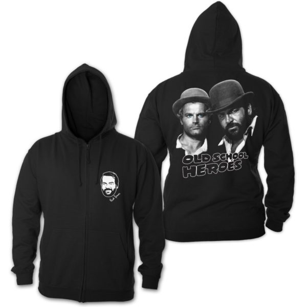 Bud Spencer & Terence Hill - Old School Heroes - Zipper Jacke (schwarz)