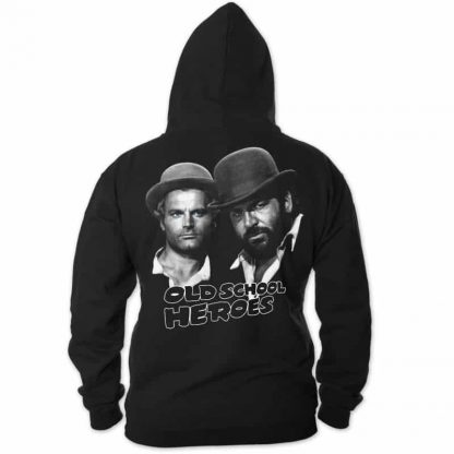 Bud Spencer & Terence Hill - Old School Heroes - Zipper Jacke (schwarz)