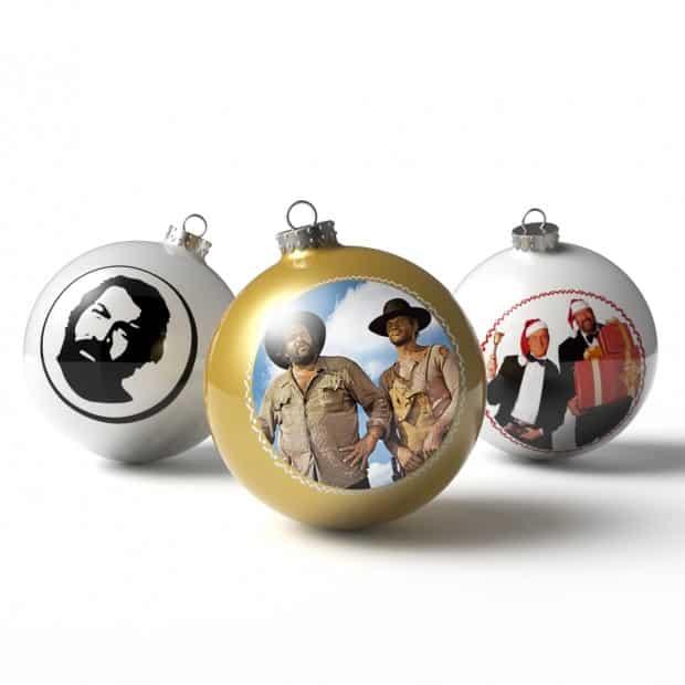 Christbaumkugeln Hochwertig.Bud Spencer Terence Hill Christbaumkugeln Weihnachtskugeln 3er Set