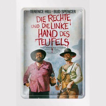 Filmplakat / Die rechte und die linke Hand des Teufels - Blechschild