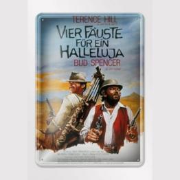 bud-spencer-terence-hill-filmplakat-vier-faeuste-fuer-ein-halleluja-blechschild