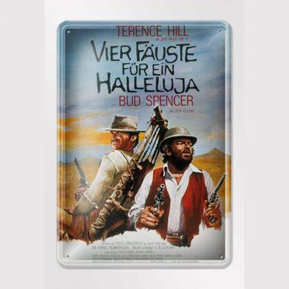 Filmplakat / Vier Fäuste für ein Halleluja - Blechschild
