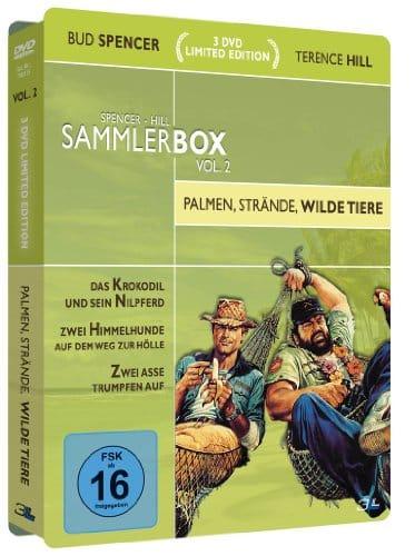 Bud Spencer & Terence Hill Sammlerbox Vol. 2: Palmen, Strände, wilde Tiere (3 DVDs) [Limited Edition]