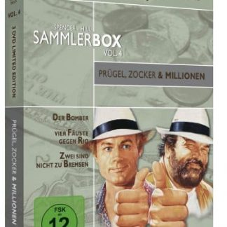 Bud Spencer & Terence Hill Sammlerbox Vol. 4: Prügel, Zocker und Millionen (3 DVDs) [Limited Edition]