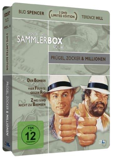 Bud Spencer & Terence Hill Sammlerbox Vol. 4: Prügel, Zocker und Millionen (3 DVDs) [Limited Edition]