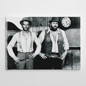Terence Hill - Der müde Joe und Der Kleine - Vier Fäuste für ein Halleluja - Leinwand