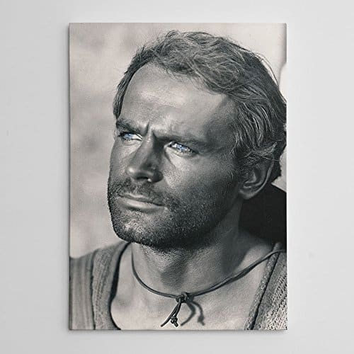Terence Hill - Der müde Joe - Portrait - Die rechte und die linke Hand des Teufels - Leinwand