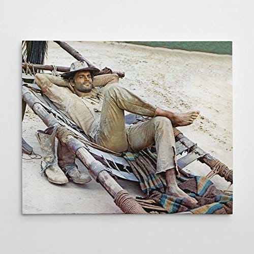 Terence Hill - Der müde Joe - Pritsche - Die rechte und die linke Hand des Teufels - Leinwand in Farbe