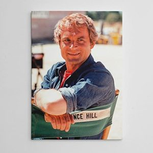 Terence Hill - Filmset - Leinwand