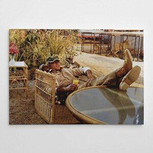 Terence Hill - Slim genannt das Krokodil - Drink - Das Krokodil und sein Nilpferd - Leinwand