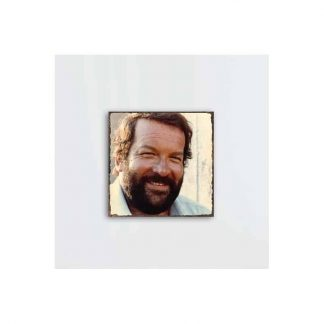 Bud Spencer Portrait 1 - Holz-Schild
