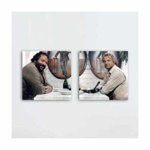 Das Krokodil und sein Nilpferd - Glasbild-Set