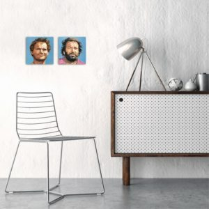 Bud Spencer und Terence Hill - Glasbild-Set