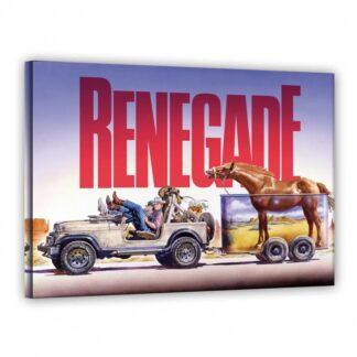 Terence Hill - Jeep Seite - Renegade - Leinwand - Renato Casaro Edition