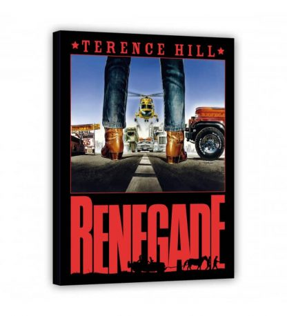 Terence Hill - Kino - Renegade - Leinwand - Renato Casaro Edition