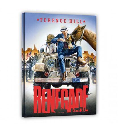 Terence Hill - Jeep sitzend - Renegade - Leinwand - Renato Casaro Edition