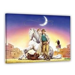 Terence Hill - Lucky Luke - Leinwand - Renato Casaro Edition (80 x 60 cm)