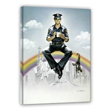 Terence Hill - Supercop - Leinwand - Renato Casaro Edition (60 x 80 cm)