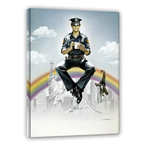 terence hill supercop leinwand renato casaro edition 60 x 80 cm. Black Bedroom Furniture Sets. Home Design Ideas