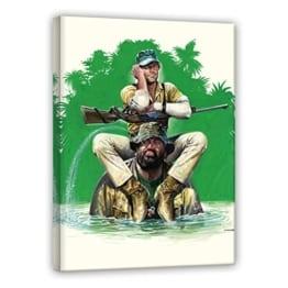 Das Krokodil und sein Nilpferd - Leinwand - Renato Casaro Edition