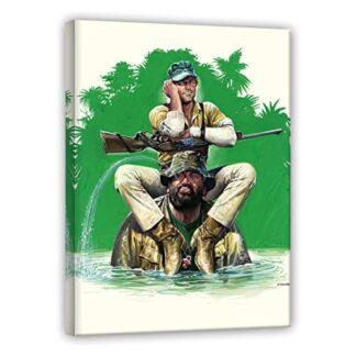 Das Krokodil und sein Nilpferd - Renato Casaro Edition - Leinwand