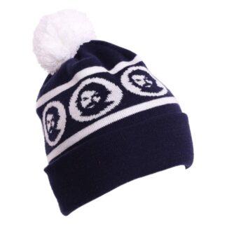Bud Spencer Mütze mit Umschlag und Bommel (blau)