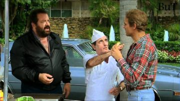 Mit Buddy und Terence am Hamburger-Stand