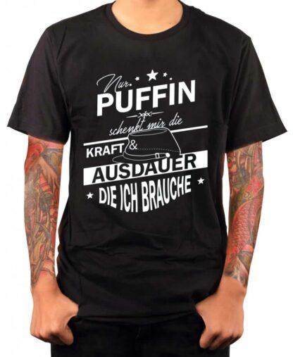 Nur Puffin schenkt mir die Kraft - T-Shirt (schwarz)