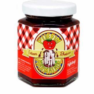 Puffin Marmelade Erdbeer-Rhabarber-Fruchtaufstrich
