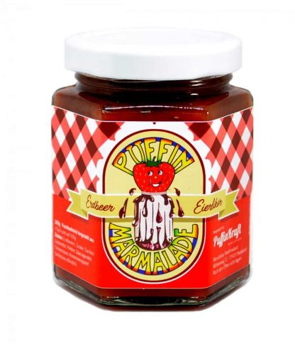 Puffin Marmelade Erdbeer-Eierlikör-Fruchtaufstrich