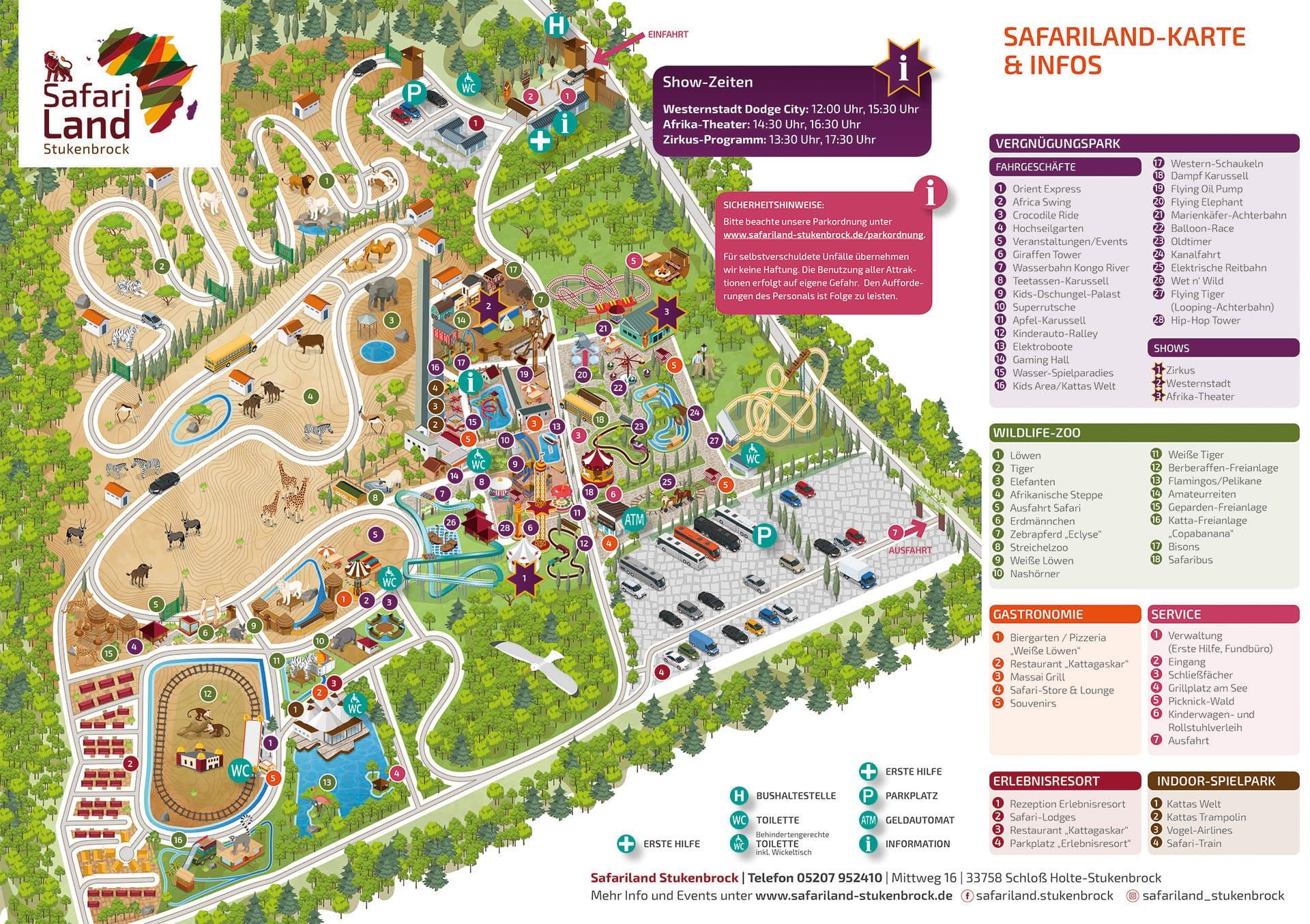 Safaripark Karte 2020