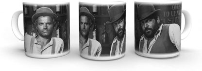 Terence Hill Vier Fäuste für EIN Halleluja - Bar Bud Spencer - Tasse rund (330ml)