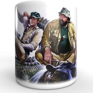 Terence Hill Das Krokodil und Sein Nilpferd Bud Spencer - Tasse rund (330ml)