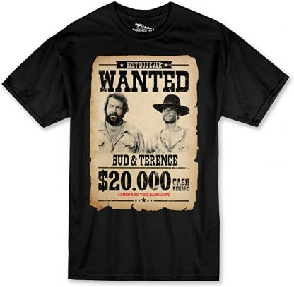 Bud Spencer Terence Hill - Wanted $20.000 T-Shirt schwarz)