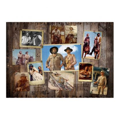 Bud Spencer & Terence Hill Puzzle Western Photo Wall (1000 Teile)