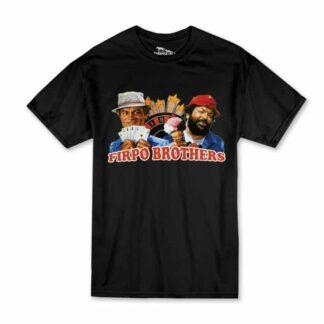 Terence Hill Bud Spencer T-Shirt Herren - Zwei sind Nicht zu bremsen - Firpo Brothers (schwarz)