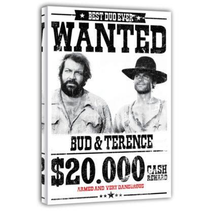Leinwand - Wanted $20.000 - Die rechte und die linke Hand des Teufels (weiss)