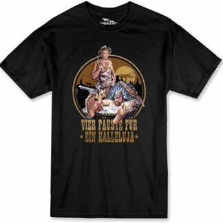 Terence Hill Bud Spencer - Vier Fäuste für ein Halleluja T-Shirt (schwarz)