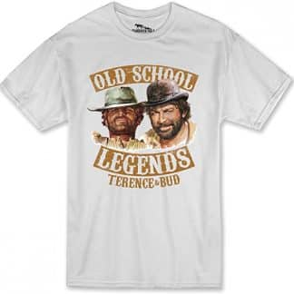 Terence Hill Bud Spencer - Old School Legends - T-Shirt (Weiss)