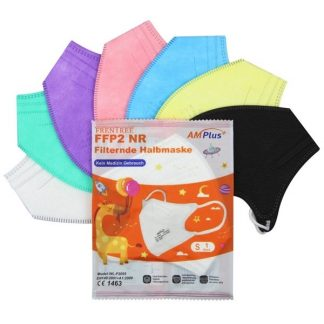 AM Plus FFP2 Maske für Kinder farbig