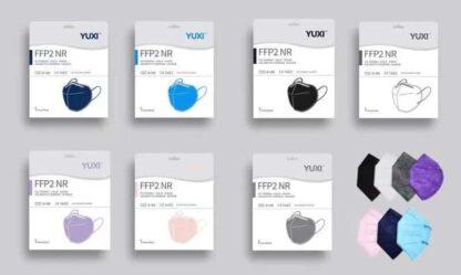 YUXI FFP2 Masken Erwachsene farbig